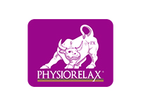 LOGOTIPO PHYSIORELAX VERTICAL FONDO VIOLETA